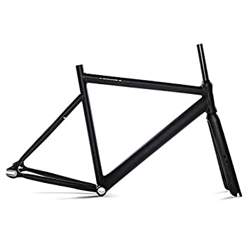 state bicycle black label 6061 aluminum frame and carbon fork set 49cmx