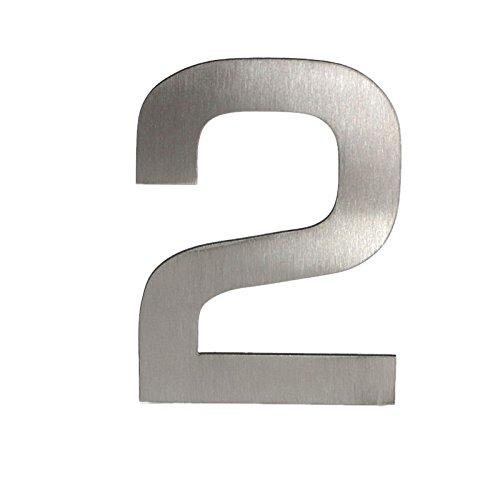 aus hochwertigem Edelstahl gefertigt 120mm H/öhe Edelstahl Hausnummer vertikal geb/ürstet Ideal zum Kleben oder Schrauben - Buchstabe A ohne L/öcher St/ärke ca 2mm