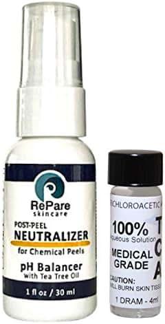 TCA 100% (4ml)- Trichloroacetic Acid & Neutralizer (1oz) - Skin Tags, Warts, Moles