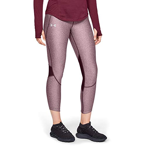 Under Armour Women's Armour Fly Fast Crop, Dark Maroon Light He (601), ()