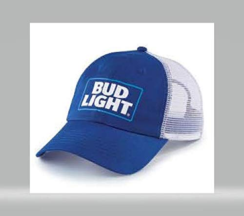 Bud Light Snap Back Hat - Blue and White at Amazon Men s Clothing store  c9d43ffd535d