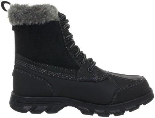 Skechers Trail MixHeats 47243 BLK - Botas fashion de cuero para mujer Negro