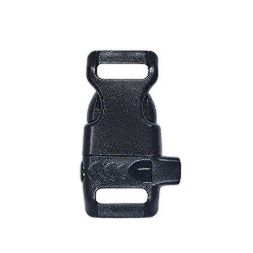 Plastic Side-Release Emergency Whistle Buckle - 1/2