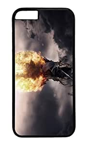 MOKSHOP Adorable grim reaper fire ball Hard Case Protective Shell Cell Phone Cover For Apple Iphone 6 Plus (5.5 Inch) - PC Black