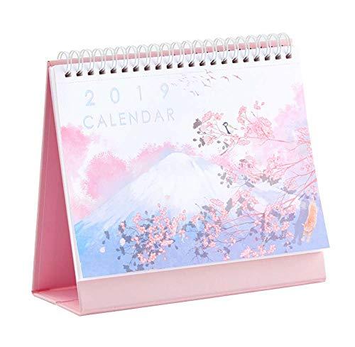 2019 Desk Calendar Chinese Holiday Monthly Desk Calendar Daily Planner, 1 Piece (F)