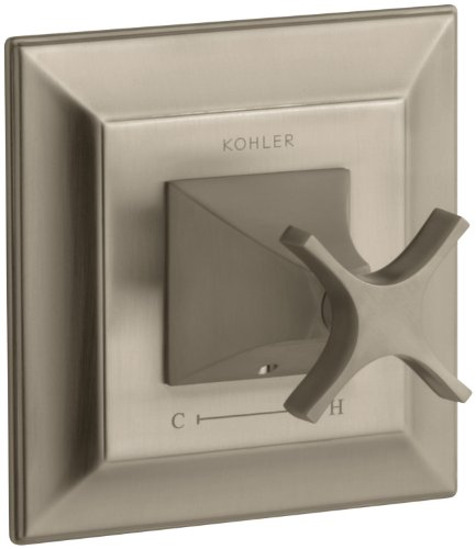 - KOHLER K-T10421-3S-BV Memoirs Thermostatic Valve Trim with Stately Design and Cross Handle, Valve Not Included, Vibrant Brushed Bronze