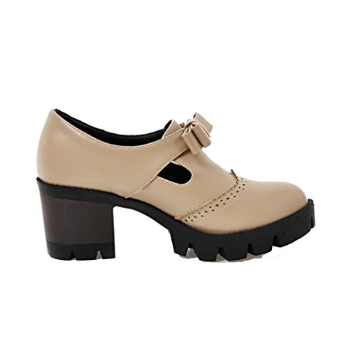 Pu Closed Zipper Solid WeiPoot Toe High Women's Boots Black Heels Round 7UFxqPWS