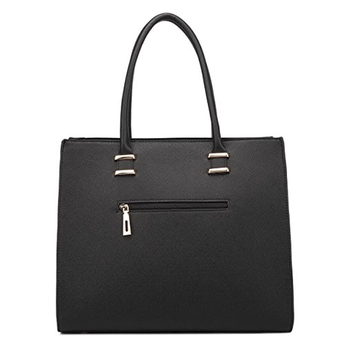 Lulu Tote Black Shoulder Ladies Leather Handbags Women Bags 1509 Miss Faux Designer 4Oqx6d4n8
