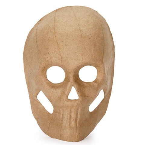 Paper Mache Skull Mask 8.5 Inches Great for Holiday Decor and Arts N Crafts Pack of ()