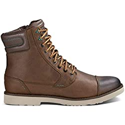 Teva Men's M Mason Tall Leather Mid Casual Boot, Brown, 11 M US