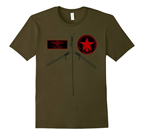Fighter Pilot Costume For Men (Mens Topgun Fighter Pilot Military Aviation Funny T-Shirt Medium Olive)