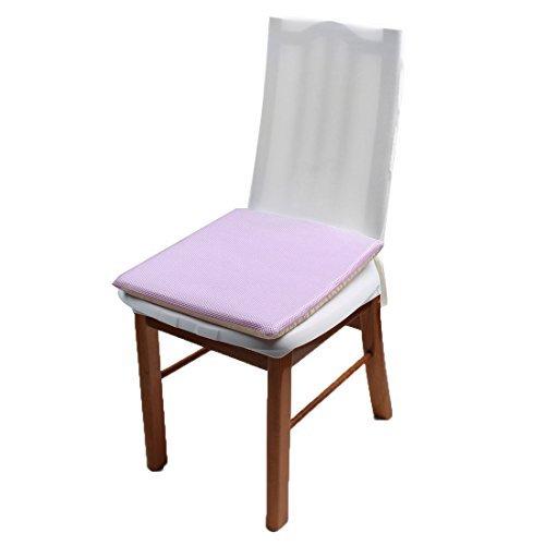 eDealMax Bureau Polyester Square Home Canap Chaise Coussin Pad 40cm x 40cm Light Purple