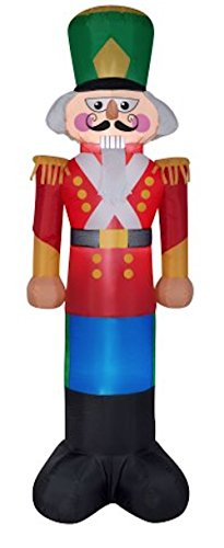 Christmas Inflatable 7 Foot Tall Nutcracker Toy Soldier Outdoor Yard Decoration