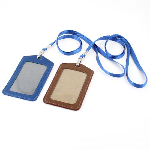 UXcell Faux Leather Wark Business ID Card Holder, 2 Piece...