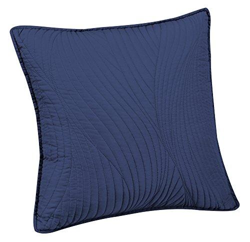 Brielle Stream Embroidered Euro Sham, Indigo (Blue Euro Sham)