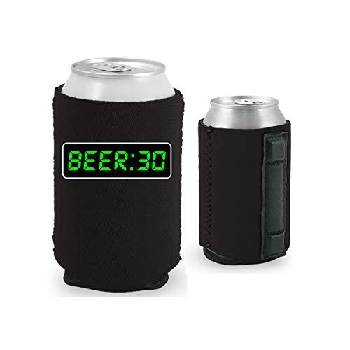 Beer 30 Magnetic Can Coolie (1, Black) -