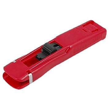 eDealMax Rojo Handheld plástica Medio Clips almeja rápido dispensador