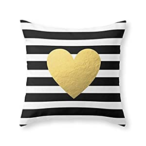 Throw Pillow Inserts 20 X 20 : Amazon.com: Society6 Gold Heart Throw Pillow Indoor Cover (20