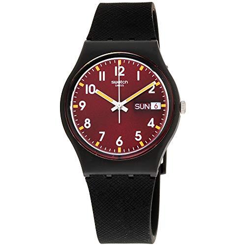 Swatch Unisex GB753 Originals Analog Display Swiss Quartz Black Watch