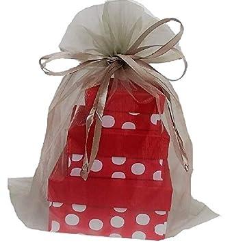 Amazon.com: X – grande bolsas de organza 5 Plata 12 x 14 ...