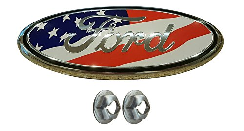 Muzzys FORD 05-14 F150 American Flag Grille or Tailgate Emblem WITH NUTS, Oval 9