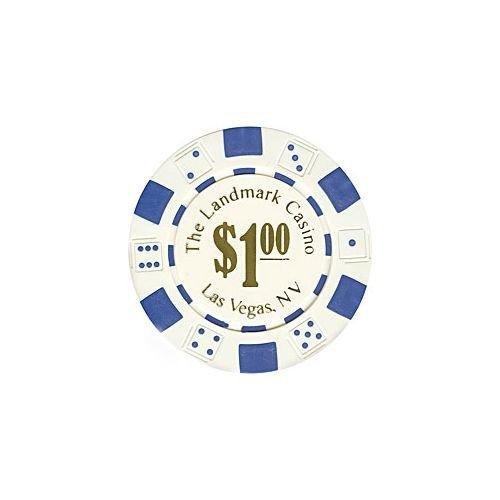 Trademark Poker Landmark Casino 50 Poker Chips (1-Piece), 11.5gm