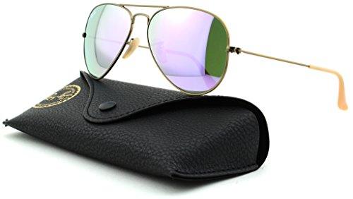 Mirror Frame Large Bronze Sunglasses ban Lens Metal Brushed 167 liliac Aviator Demiglos Unisex Rb3025 4k Ray xYpnqSTP