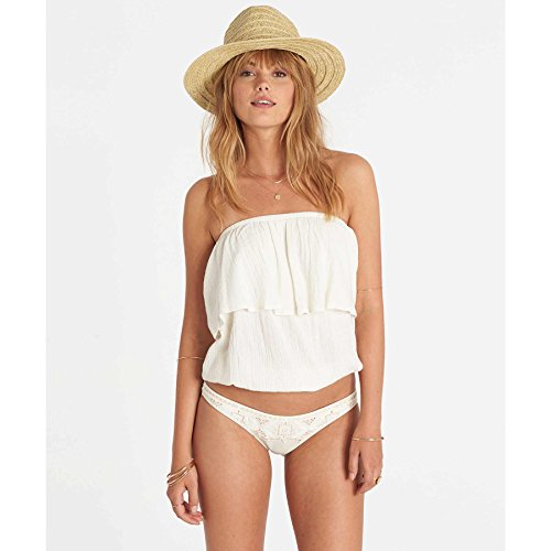 Billabong Junior's Take On Solid Ruffle Tube Top, Cool Whip, (Ruffle Tube Top)