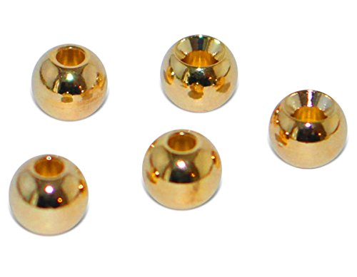 Prime Fish Co. Brass Fly Tying Bead Heads 100 Count (3.2mm) ()