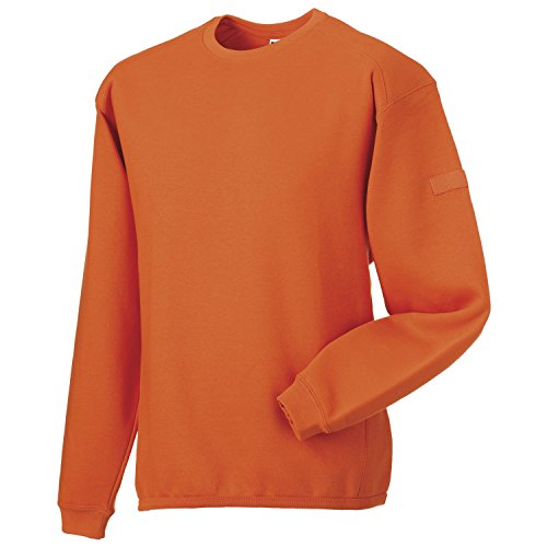 Russell Europe Heavy duty crew neck sweatshirt Orange XL