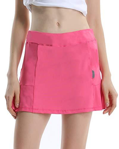 Women's Active Athletic Underneath Skorts Lightweight Skirt for Running Tennis Golf Workout Pink Size S ()