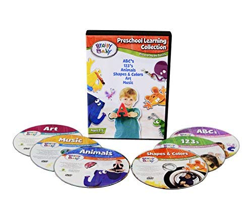 - Brainy Baby Discovering The Basics Preschool Learning DVD Collection Deluxe Edition Set of 6