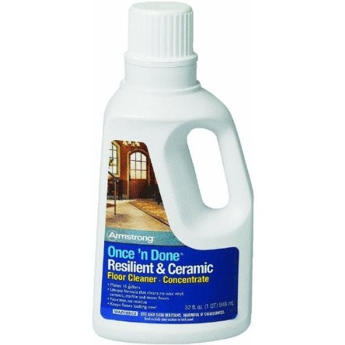 Armstrong Once and Done Resilient & Ceramic Floor Cleaner Concentrate 32oz (Slate Floor Wax)