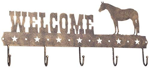 - 5 Hook Tack Rack Bronze Quarter Horse by Gift Corral