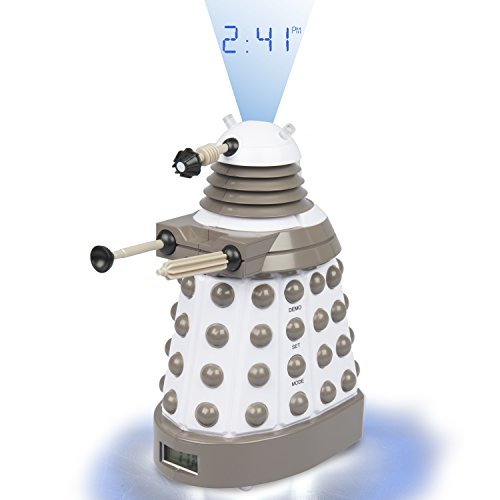 Underground Toys Doctor Who Dalek Projector Alarm Clock - Digital Timer with Dr. Who Sound Effects -