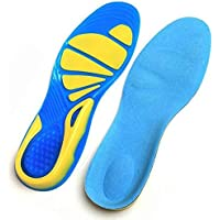 1 Pair Silicone Gel Running Sport Insoles Orthotic Arch Support Anti-slip Shoe Pad, Size L