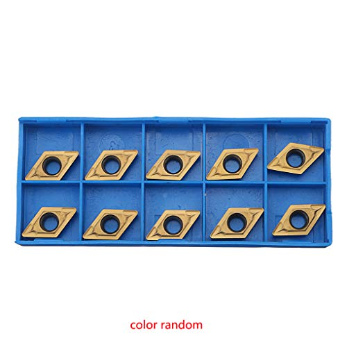 (Jiasijieke 10pcs DCMT11T308 DCMT32.51 Lathe Carbide Inserts Set Replacement for CNC Insert Outside Turning Tool Milling Cutter )