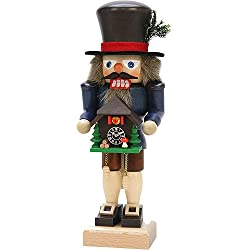 German Christmas Nutcracker Black Forester with Cuckoo Clock - 27,0cm / 10.6inch - Christian Ulbricht