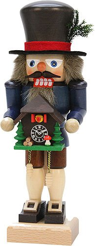 German Christmas Nutcracker Black Forester with Cuckoo Clock - 27,0cm / 10.6inch - Christian Ulbricht by Ulbricht