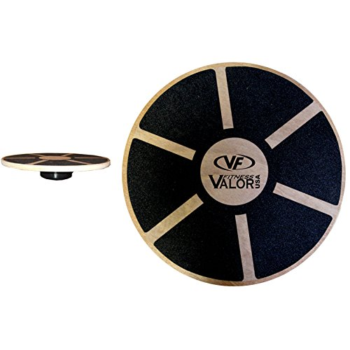 Valor Fitness EQ-1 Wooden Balance Board with Non-Slip Pad