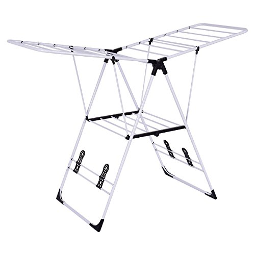GJH One Clothes Drying Rack Laundry Portable Folding Dryer H