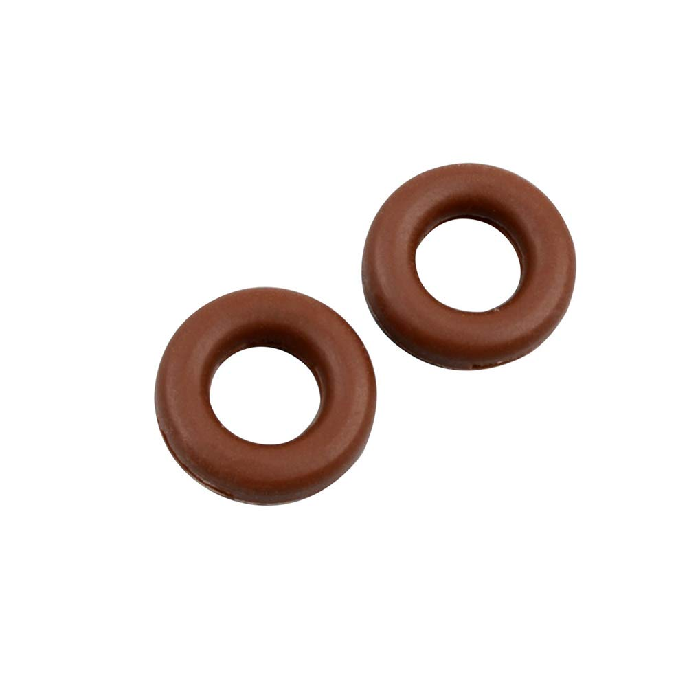 Huanyu Anti-Slip Round Comfort Glasses Retainers Glasses Slip Sleeve Fixed Ear Hook Anti-dropper Ear Clip Behind The Ear Eye Frame Bracket Leg Fittings Silicone Foot Cover (brown) by Huanyu