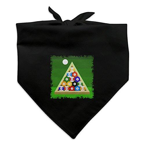 (GRAPHICS & MORE Billiard Balls and Triangle Pool Table Dog Pet Bandana - Black)