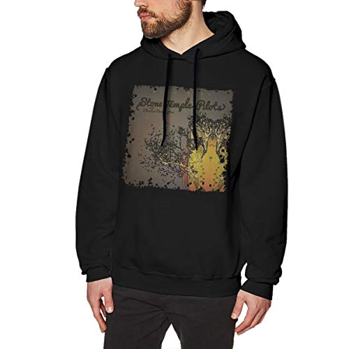 HCULXTIBW Stone Temple Pilots High Rise Men's Hooded Sweatshirt Black XL