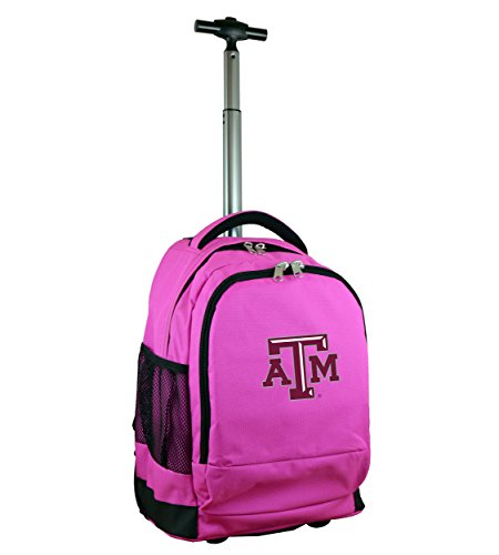 - Denco NCAA Texas A&M Aggies Expedition Wheeled Backpack, 19-inches, Pink