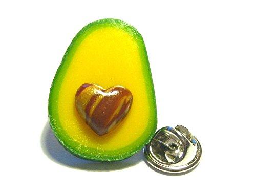 Avocado Love Pin - Tiny Food Jewelry by Tiny Food Shop