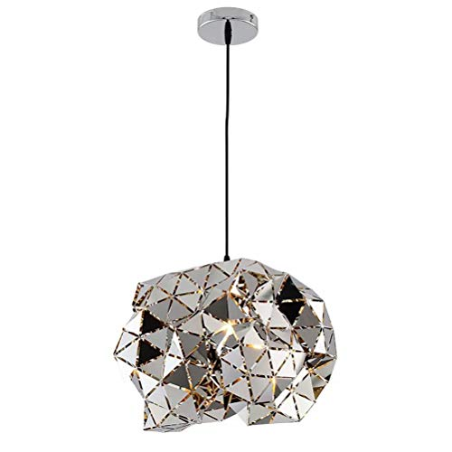 HN Lighting Minimalist LED Pendant Light, Dining Table Ceiling Light with Height Adjustable, Hanging Lamp for Living Room Restaurant Office Study [Energy Class A ++] (Color : L)
