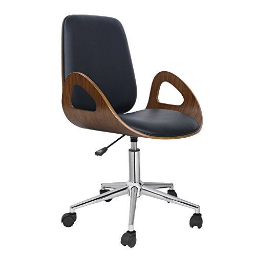 Porthos Home Caroline Adjustable Office Chair, Black by Porthos Home