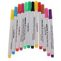 Fityle ファブリックペン マーカー プラスチック 織物標識用 ウォールアート 多色 約12個入りの商品画像
