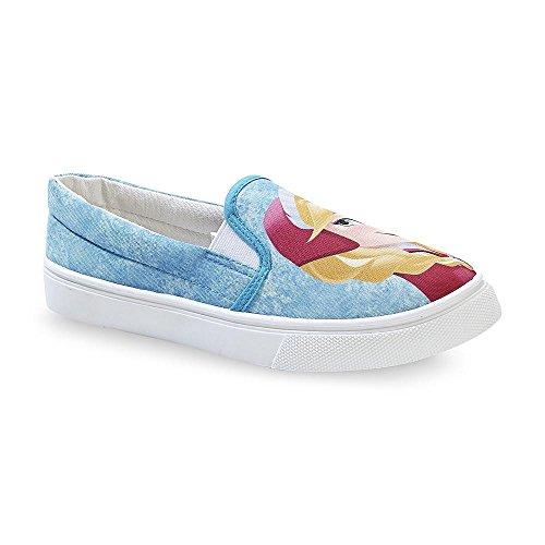 Disney Frozen Womens Blue Slip On Sneaker tBRD1